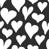 Illustrazione senza cuciture di vettore del modello di simbolo del cuore Fondo disegnato a mano di scarabocchio di schizzo Backgr Fotografia Stock Libera da Diritti