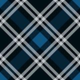 Illustrazione senza cuciture di vettore del tartan del tessuto del modello diagonale blu di struttura illustrazione di stock