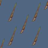 Illustrazione senza cuciture di vettore della spazzola Fotografie Stock Libere da Diritti
