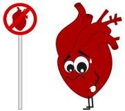Illustrazione severa del fumetto di concetto del segno del cuore Immagine Stock