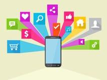 Illustrazione sociale dell'icona di vettore di media Immagini Stock Libere da Diritti