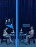 Illustrazione sociale della foto di identità di profilo di falsificazione di media Fotografie Stock Libere da Diritti
