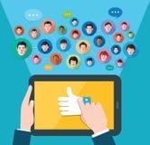 Illustrazione sociale di concetto della rete di media Immagine Stock Libera da Diritti