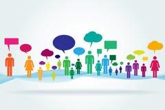 Illustrazione sociale di concetto di vettore di media Fotografia Stock