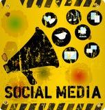 Illustrazione sociale di media Fotografia Stock Libera da Diritti