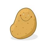 Illustrazione sorridente della patata Immagini Stock