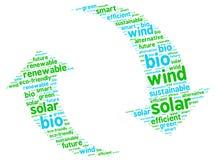 Illustrazione sostenibile del grafico dell'energia rinnovabile Fotografie Stock Libere da Diritti