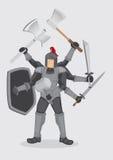 Illustrazione sovrumana di Warrior Cartoon Vector del cavaliere Fotografie Stock Libere da Diritti
