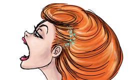 Illustrazione spalancata della bocca Fotografia Stock