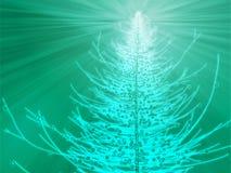 Illustrazione Sparkly dell'albero di Natale illustrazione di stock