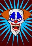 Illustrazione spaventosa della testa del pagliaccio Immagini Stock Libere da Diritti
