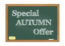 Illustrazione speciale di vettore dell'avviso della lavagna di offerta di autunno illustrazione di stock