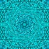 Illustrazione a spirale di simmetria di progettazione geometrica Movimento astratto illustrazione di stock
