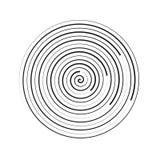Illustrazione a spirale di vettore dell'elemento Circonda l'elemento geometrico Ambiti di provenienza concentrici illustrazione vettoriale