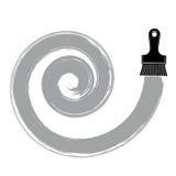 Illustrazione a spirale di vettore di curvatura, forma circolare spazzolata Monoch royalty illustrazione gratis