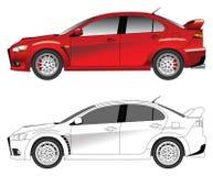 Illustrazione sportiva di vettore dell'automobile Fotografie Stock Libere da Diritti