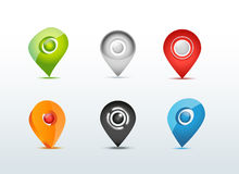 Illustrazione stabilita dell'icona di comunicazione di GPS della mappa Immagine Stock Libera da Diritti