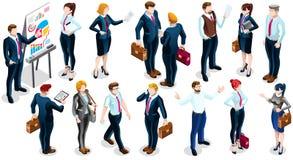Illustrazione stabilita di vettore della gente dell'icona isometrica di Team Deal 3D Immagini Stock