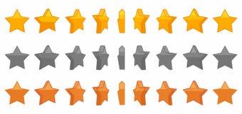 Illustrazione stabilita di vettore di animazione della stella Fotografia Stock