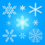 Illustrazione stabilita di vettore di inverno del fiocco di neve royalty illustrazione gratis