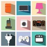 Illustrazione stabilita eps10 dell'icona elettrica degli apparecchi Fotografie Stock Libere da Diritti