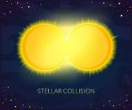Illustrazione stellare di vettore di collisione royalty illustrazione gratis