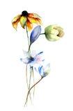 Illustrazione stilizzata dei fiori Fotografie Stock