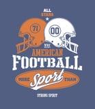 Illustrazione stilizzata del casco di calcio Fotografia Stock Libera da Diritti
