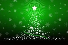 Illustrazione stilizzata di disegno dell'albero di Natale Immagine Stock