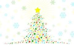 Illustrazione stilizzata di disegno dell'albero di Natale Immagini Stock