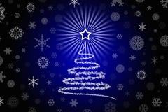Illustrazione stilizzata di disegno dell'albero di Natale Fotografie Stock Libere da Diritti