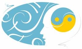 Illustrazione stilizzata di meditazione di consapevolezza Fotografie Stock Libere da Diritti