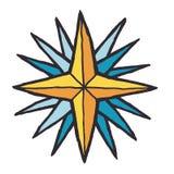 Illustrazione stilizzata di vettore della rosa dei venti illustrazione vettoriale