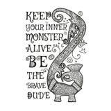 Illustrazione stilizzata tribale di vettore del drago royalty illustrazione gratis