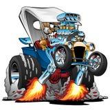 Illustrazione su ordinazione di vettore del fumetto di Hotrod dell'automobile scoperta a due posti del T-secchio royalty illustrazione gratis