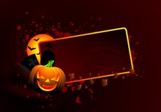 Illustrazione su un tema di Halloween Fotografie Stock Libere da Diritti