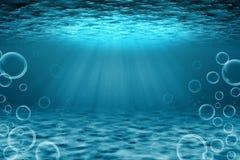 Illustrazione subacquea di scena Fotografia Stock