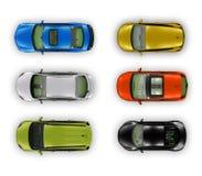 Illustrazione superiore delle automobili Fotografie Stock