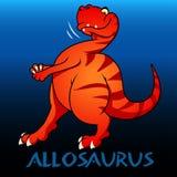 Illustrazione sveglia dei dinosauri del carattere di allosauro royalty illustrazione gratis