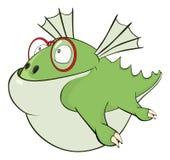 Illustrazione sveglia del drago verde fumetto Fotografie Stock Libere da Diritti