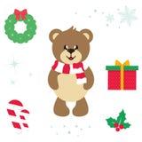 Illustrazione sveglia del fumetto di vettore dell'orso del fumetto Fotografia Stock
