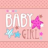 Illustrazione sveglia della neonata Fotografia Stock