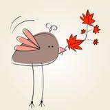Illustrazione sveglia di autunno Fotografia Stock