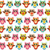 Illustrazione sveglia di Owl Seamless Pattern Background Vector Immagine Stock Libera da Diritti
