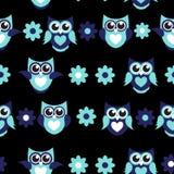 Illustrazione sveglia di Owl Seamless Pattern Background Vector royalty illustrazione gratis