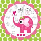 Illustrazione sveglia di vettore dei pois dell'elefante Fotografie Stock