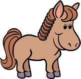 Illustrazione sveglia di vettore del cavallo Immagine Stock