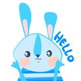 Illustrazione sveglia di vettore del coniglio immagine stock