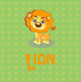 Illustrazione sveglia di vettore del leone Immagini Stock Libere da Diritti