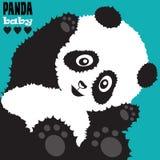 Illustrazione sveglia di vettore del panda Fotografie Stock